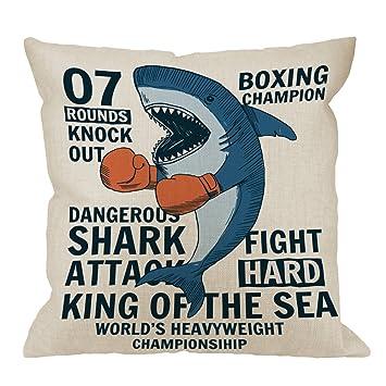 aa0923fa9c93 Amazon.com  HGOD DESIGNS Shark Pillow Cover