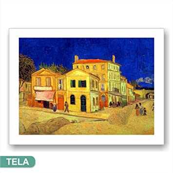 Cadres L & C Italie van gogh la maison jaune - Impression Sur Toile ...