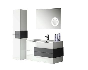 Mobili Da Bagno Bianco Lucido : Allibert mobili da bagno set pre assemblati bianco lucido