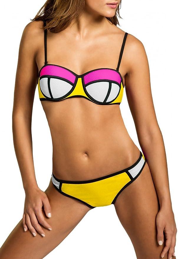Comprar bikini neón barato para mujer