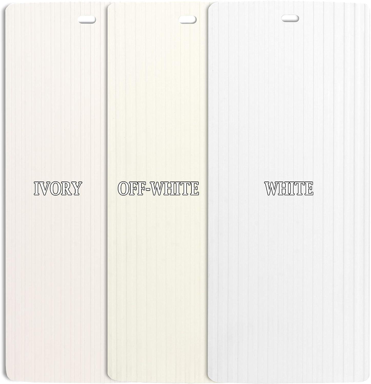 DALIX Large Ribbed Vertical Blinds Sliding Door Window Slats Ivory 94.5 5 Pack