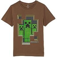 NAME IT Nkmminecraft Dada SS Top Bfu Camiseta para Niños