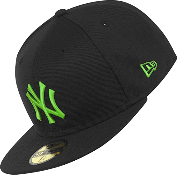 e7e4783b New Era New York Yankees - Cap - Season Basic- Black/Island Green: Amazon.co .uk: Clothing