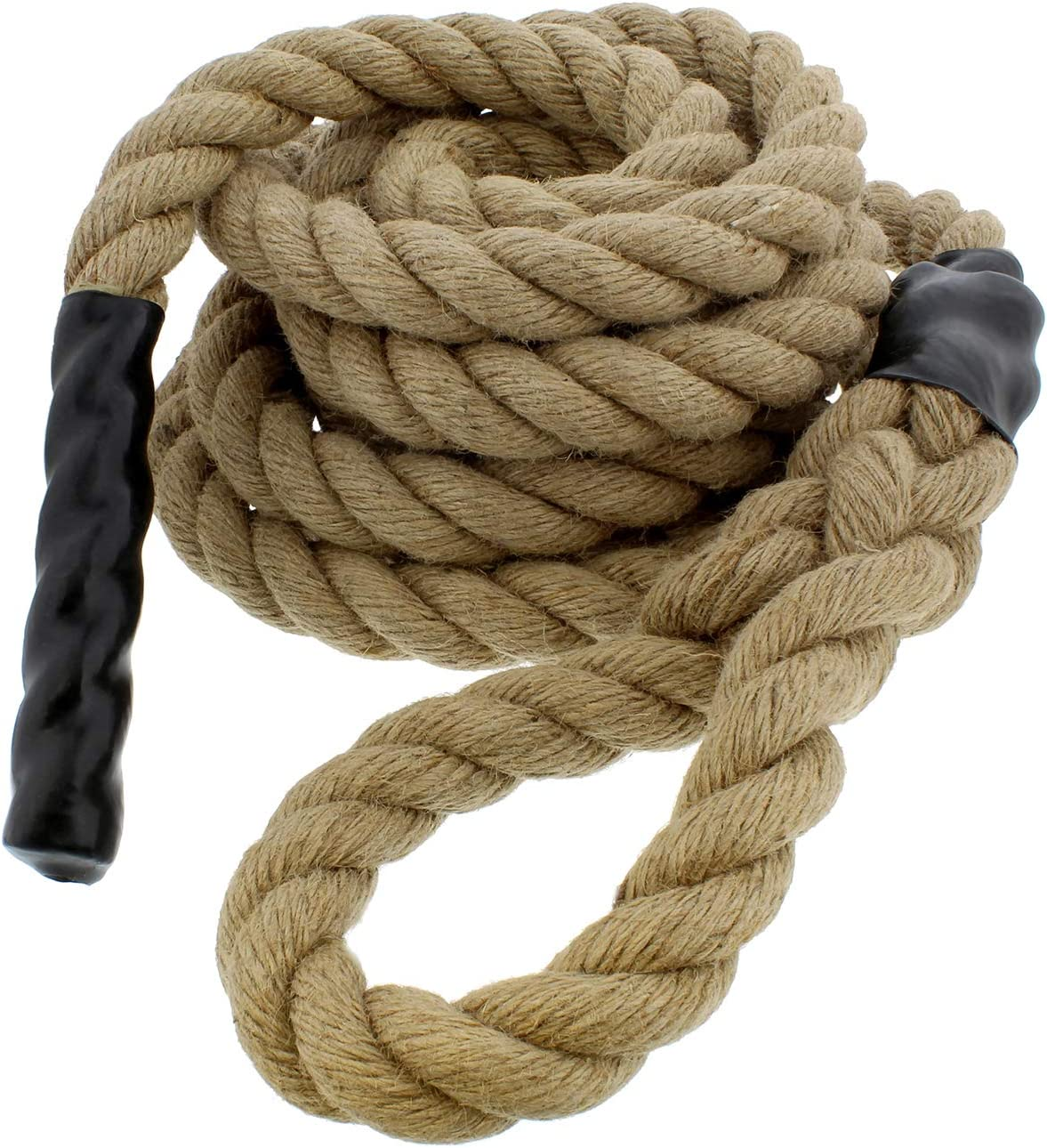 Get Out! Jute Exercise Rope, Fitness Rope for Indoor Climbing Rope Gym Rope Climbing – 1.5in Ropes for Climbing  1.5 In x 30 Ft