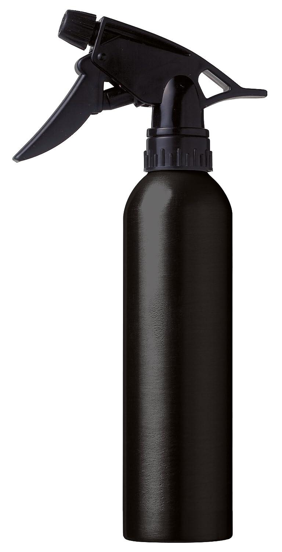 SPRUZZINO PARRUCCHIERE acqua Spray bottiglia in alluminio, argento/nero, 260ML (NERO) Kopfart Antje Willems 7000462
