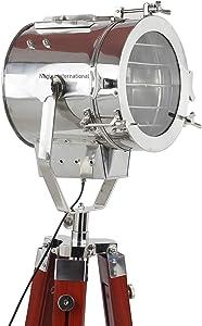 Nagina International, Floor Lamp Home Decorative Vintage Design Tripod Lighting Searchlight Spot Light