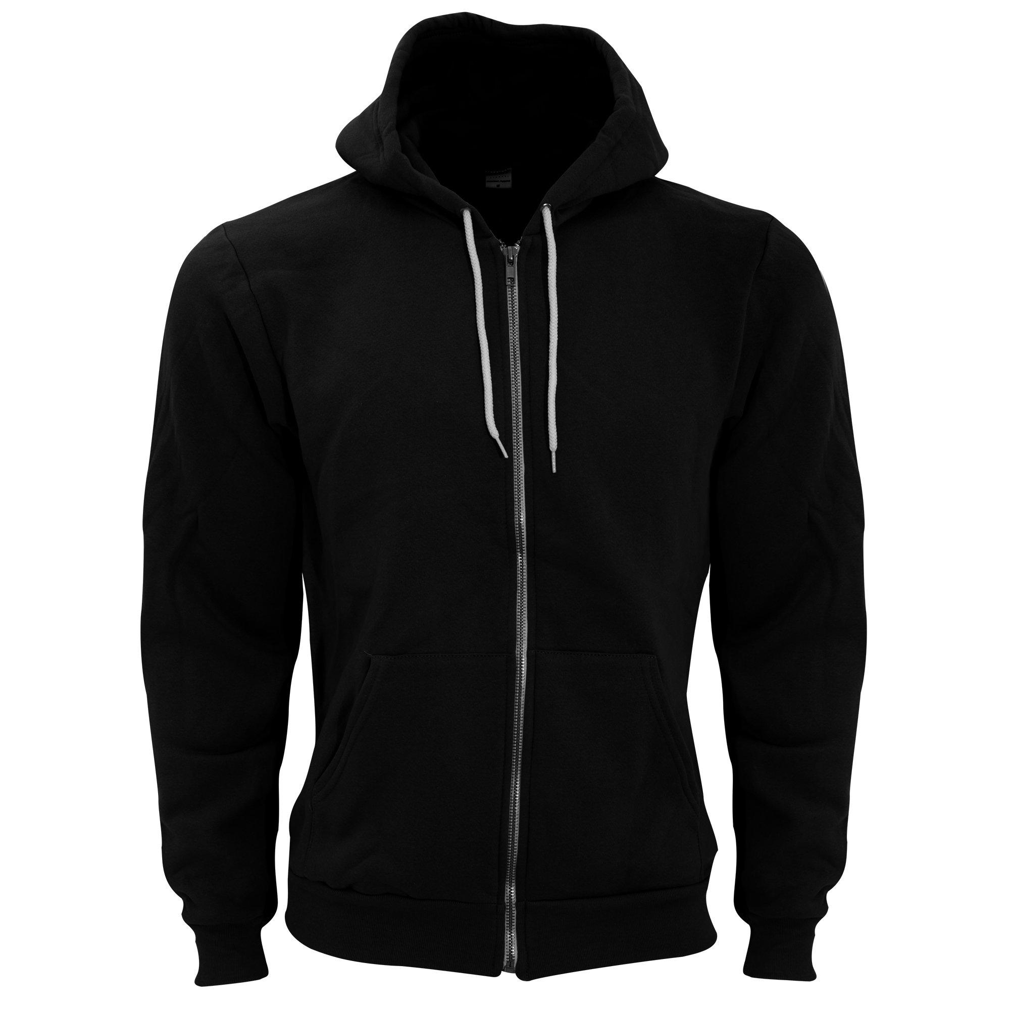 American Apparel Unisex Flex Plain Full Zip Fleece Hoodie (XL) (Black) by American Apparel