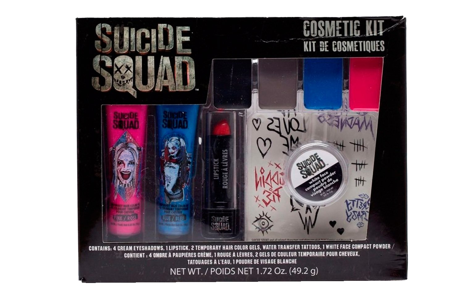 SUICIDE SQUAD Harley Quinn costume Makeup Cosmetic Kit by GBG