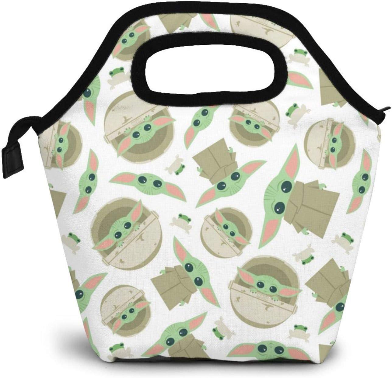 Yo-da baby Tote Bag Lunch Bag Lnsulated Lunch Cooler Bag for Women/Men One Size