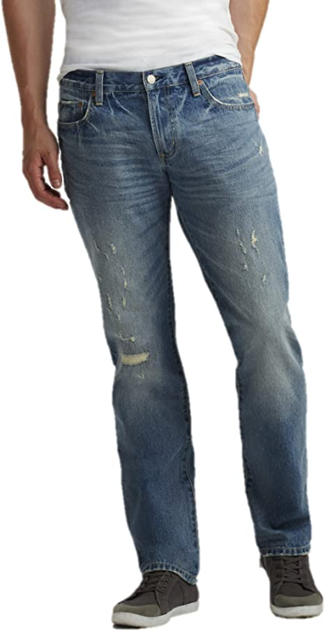 Aeropostale Mens Slim Straight Light Wash Destroyed Jeans 27x28 Blue At Amazon Men S Clothing Store