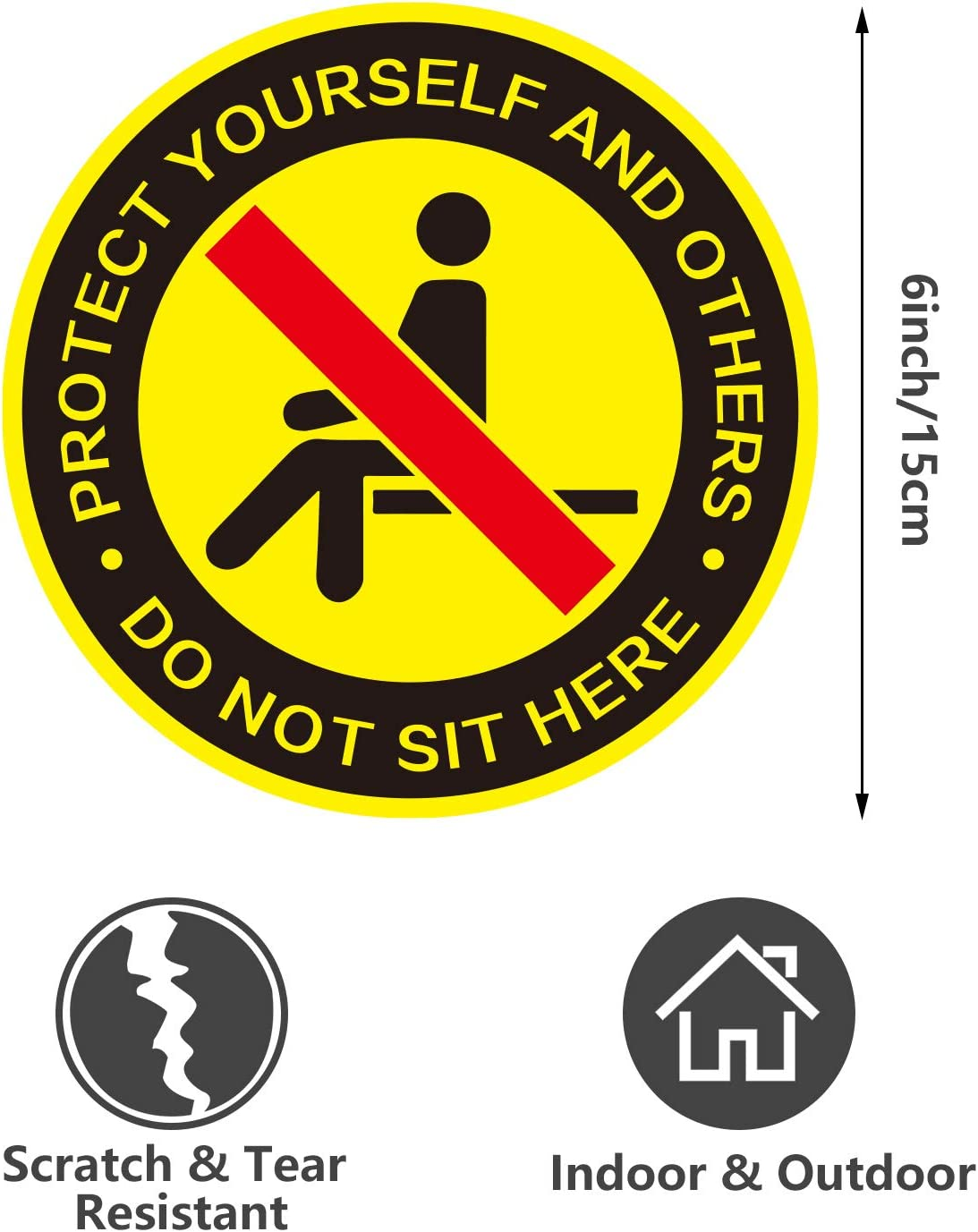 Self Adhesive Waterproof Vinyl Sticker SAFETY SIGN Water Safety Prohibition