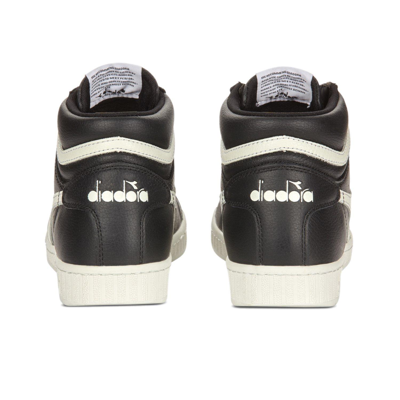 Diadora Unisex-Erwachsene Pumps, Game L High Waxed Pumps, Unisex-Erwachsene C1092 - Schwarz-Weißs-schwarz 0231da