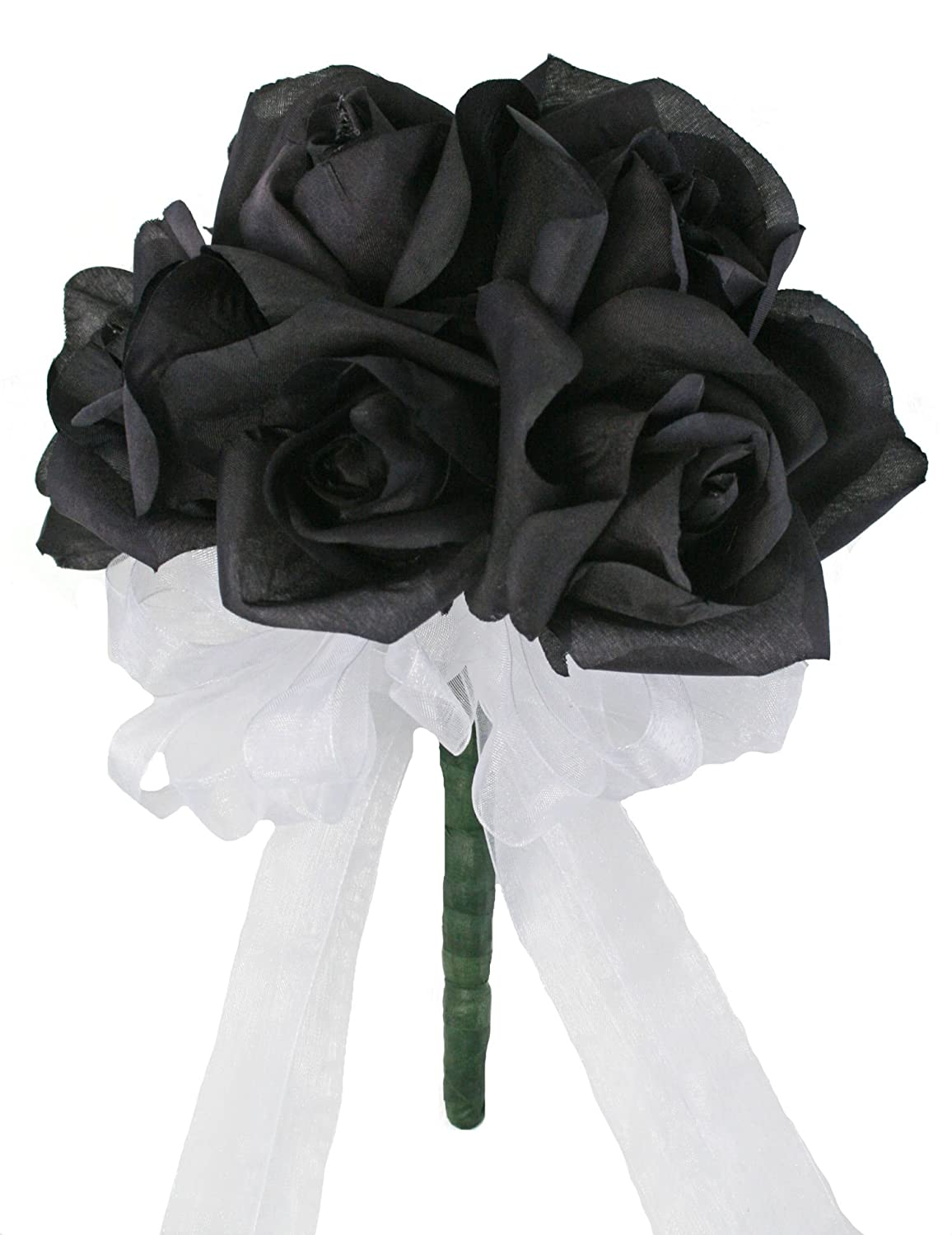 Amazon black silk rose toss bouquet bridal wedding bouquet amazon black silk rose toss bouquet bridal wedding bouquet home kitchen izmirmasajfo Choice Image