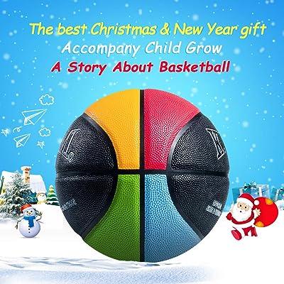 "balls Kuangmi Colorful Street Basketball for  Child Kids Boys Girls Size 3 22/"""