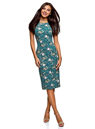 6c186c983a56 oodji Collection Women s Scoop Back Midi Dress