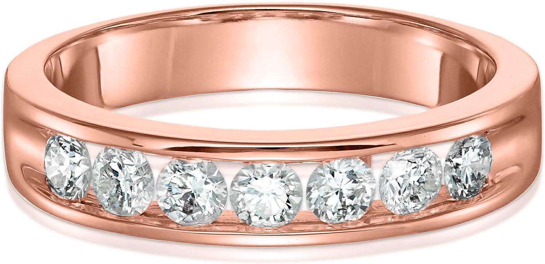 Details about  /3.50 Ct Round Cut Diamond White Wedding Band Ring 14k Yellow Gold Finish