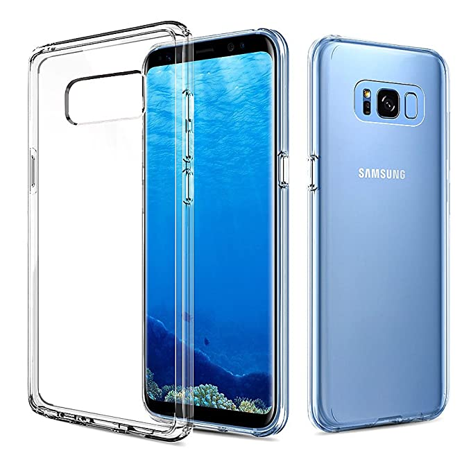 18 opinioni per Cover Galaxy S8, G-Color Custodia Duro PC+TPU Antigraffio Trasparente (Test di