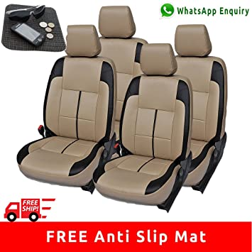Autofact Pu Leatherite Car Seat Covers For Datsun Redi Go: Amazon ...