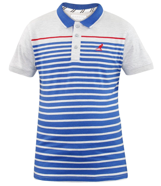 Kangol Rowley Polo Casual Camiseta para Hombre Azul Azul (Surf ...