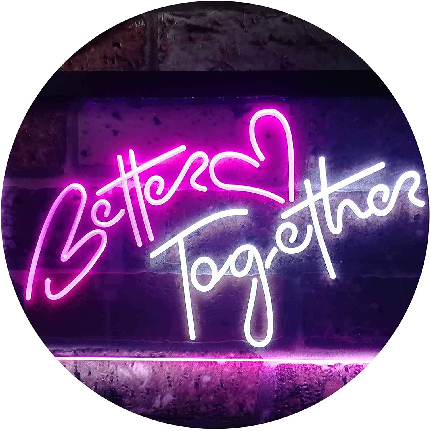 ADV PRO Better Together Bedroom Home D/écor Dual Color LED Barlicht Neonlicht Lichtwerbung Neon Sign Blau /& Gelb 300 x 210mm st6s32-i3235-by