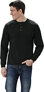product image for Adult Long Sleeve Henley Brushed Jersey Classic Fit