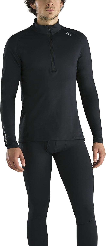 Half Zip Pullover Workout Top Saxx Underwear Men/'s THERMOFLYTE Performance Top Men/'s Long Sleeve Active Top