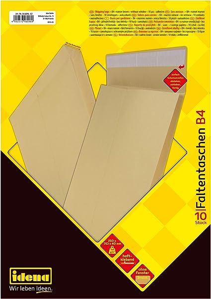 Mailers Envelopes DIN B4 250 x 353 mm Self Adhesive 110 g//m² Brown