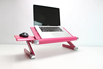 Brilliant Backpainhelp Portable Adjustable Posture Laptop Stand Desk Table For Bed Alluminium Zinc Folding Lap Desk Breakfast Tv Tray For Sofa Couch Evergreenethics Interior Chair Design Evergreenethicsorg