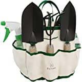 Pure Garden 75-08002 8 Piece Garden Tool and Tote Set Repel-pesticides, 7x4.5, b