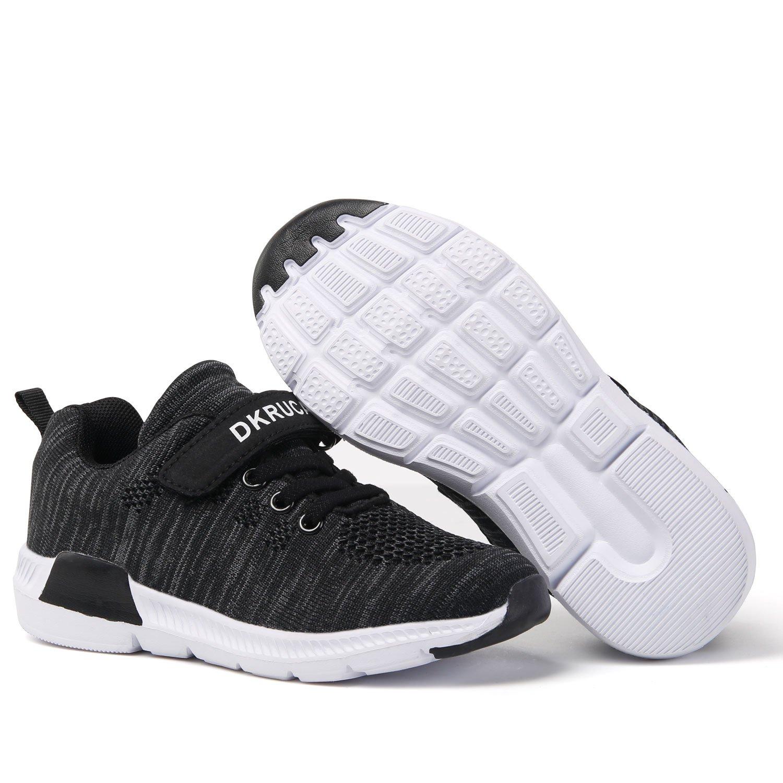 DKRUCAK Kids Lightweight Sneakers Cute Casual Easy Walk Velcro Running Shoes for Boys Girls