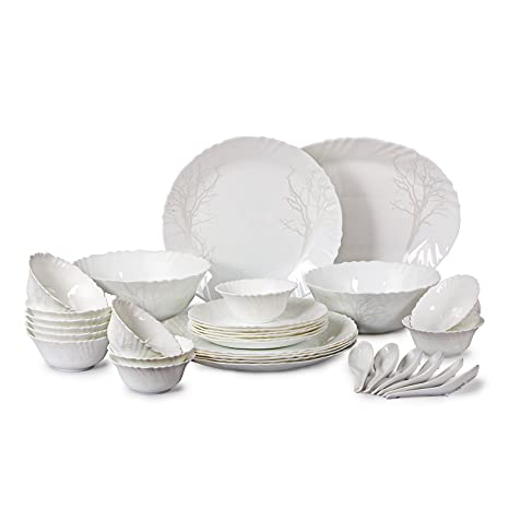 Buy Cello Imperial Winter Frost Opalware Dinner Set 33 Pieces