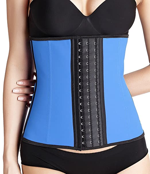 b0cc83cc159 YD Women s Latex Sport Girdle Waist Trainer Belt Waist Shaper(Bule ...