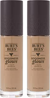 product image for Burts Bees Goodness Glows Liquid Makeup, Almond Beige - 1.0 Ounce (Pack of 2)