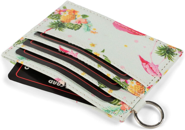 styleBREAKER Porte-Cartes pour Dames avec Motif Flamingo Tropic color/é Couleur:Menthe-Multicolore /étui /à Cartes de cr/édit Compact 02040139 Portefeuille