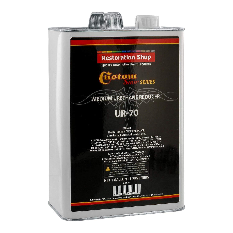 Restoration Shop/Custom Shop - UR70 Medium Urethane Reducer (Gallon) for Automotive Paint and Industrial Paint Use - High Performance Automotive Grade by Restoration Shop