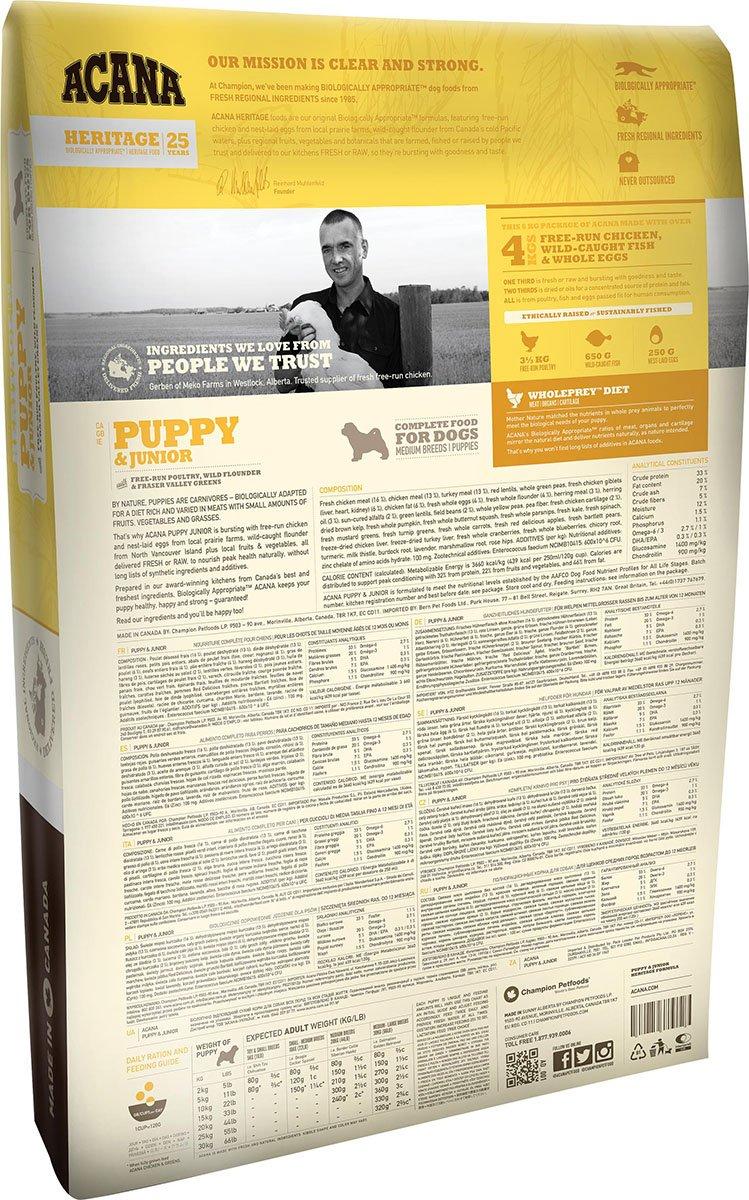 ACANA Puppy & Junior Comida para Perro 6 KG 1 Saco: Amazon.es: Productos para mascotas