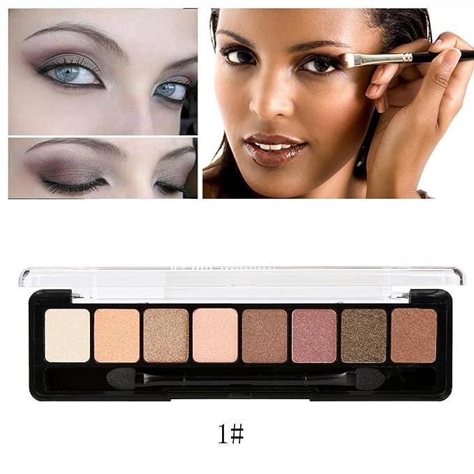 8 Colors Cosmetic Powder Smoky Eyeshadow Palette Makeup Set Matt Available (B)