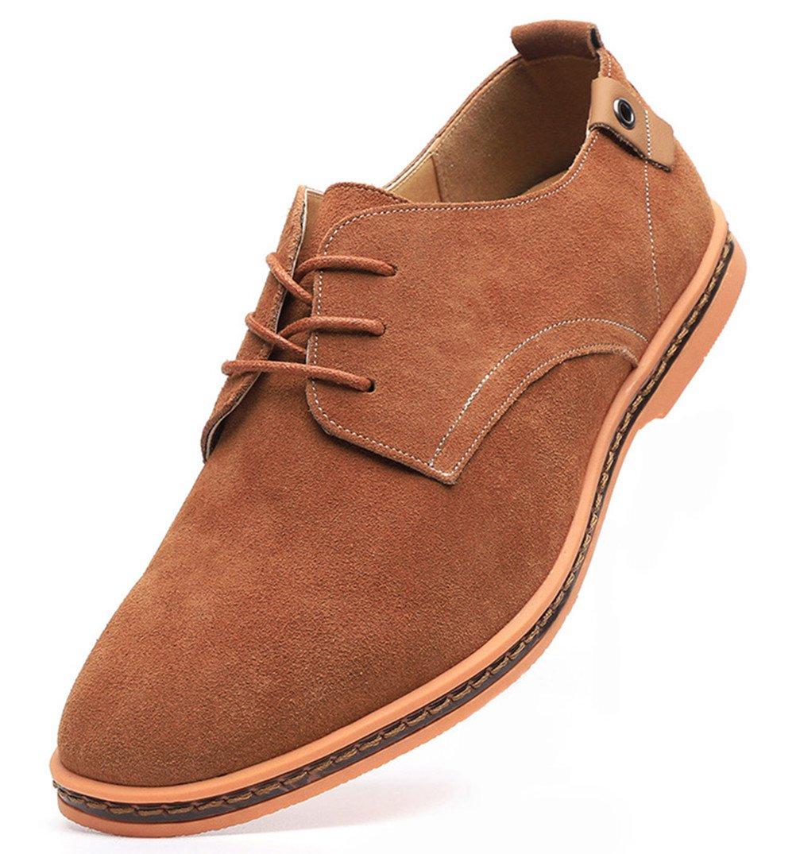 Dadawen Men's Khaki Leather Oxford Shoe - 10.5 D(M) US