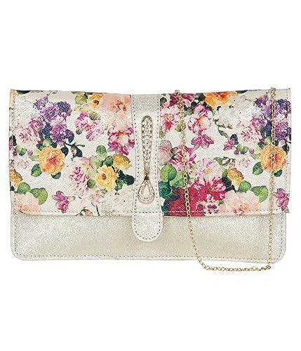 ADISA CL013 gold women girls clutch sling bag
