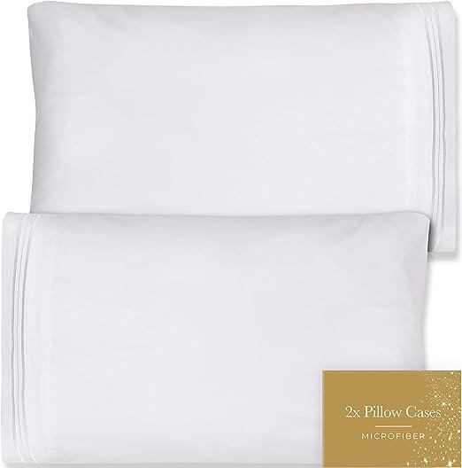 Amazon Com Queen Pillow Cases Set Of 2 20x30 Microfiber