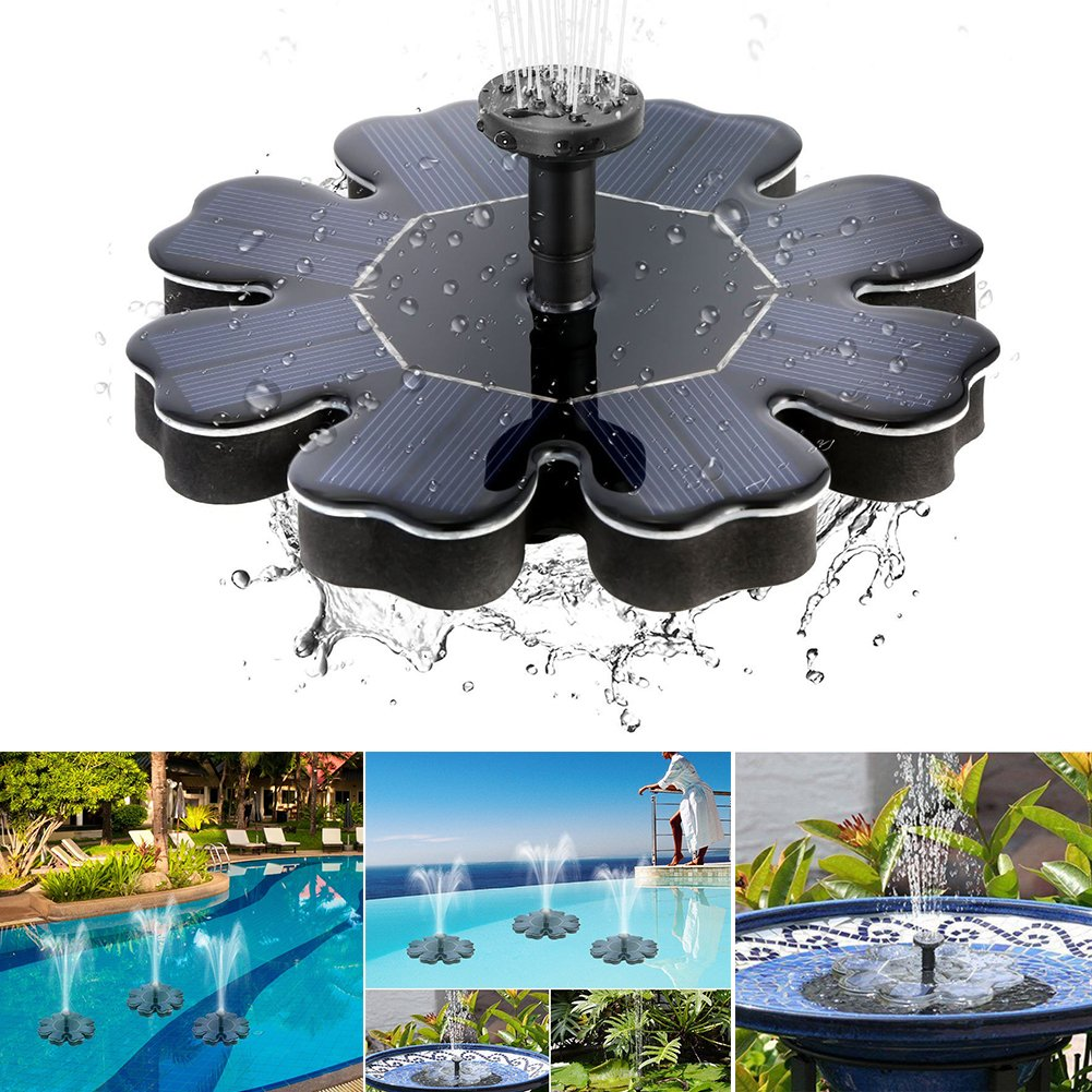 Solar Fountain Pump Standing 180L/H Bath Fountain Pump for Garden and Patio Solar Panel Kit Water Pump for Bird Bath, Fish Tank, Small Pond, Yard Decoration, Water Circulation for Oxygen