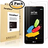 [2 Pack] iVoler [Tempered Glass] Screen Protector for LG Stylo 2 / LG Stylo 2 V (Verizon) / LG G Stylo 2 / LG Stylo 2 Plus, [0.2mm Ultra Thin 9H Hardness 2.5D Round Edge] with