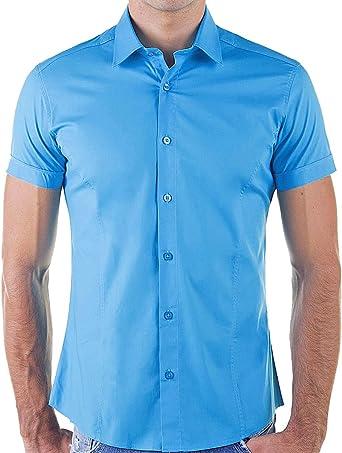 Redbridge by Cipo & Baxx R-2156 Camisa de manga corta, talla L, color turquesa: Amazon.es: Ropa y accesorios