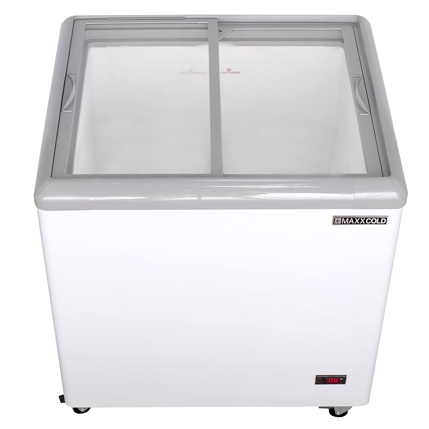 Maxx Cold MXF31F 31 7.5 cu ft Commercial Mobile Ice Cream Display Freezer