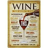 Poster Métallique Affiche Peinture Art Décoratif Vintage pour Bar Café Pub 20cmx30cm Vin #5