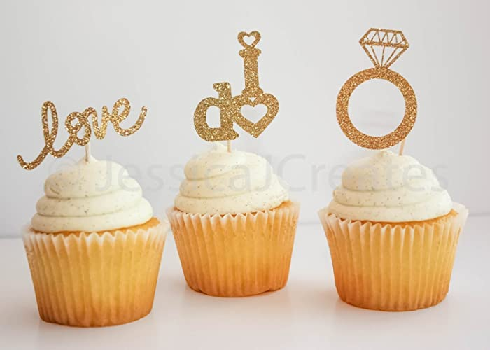 Amazon cupcake toppers engagement cupcake toppers gold cupcake toppers engagement cupcake toppers gold cupcake toppers wedding cupcake toppers gold junglespirit Choice Image