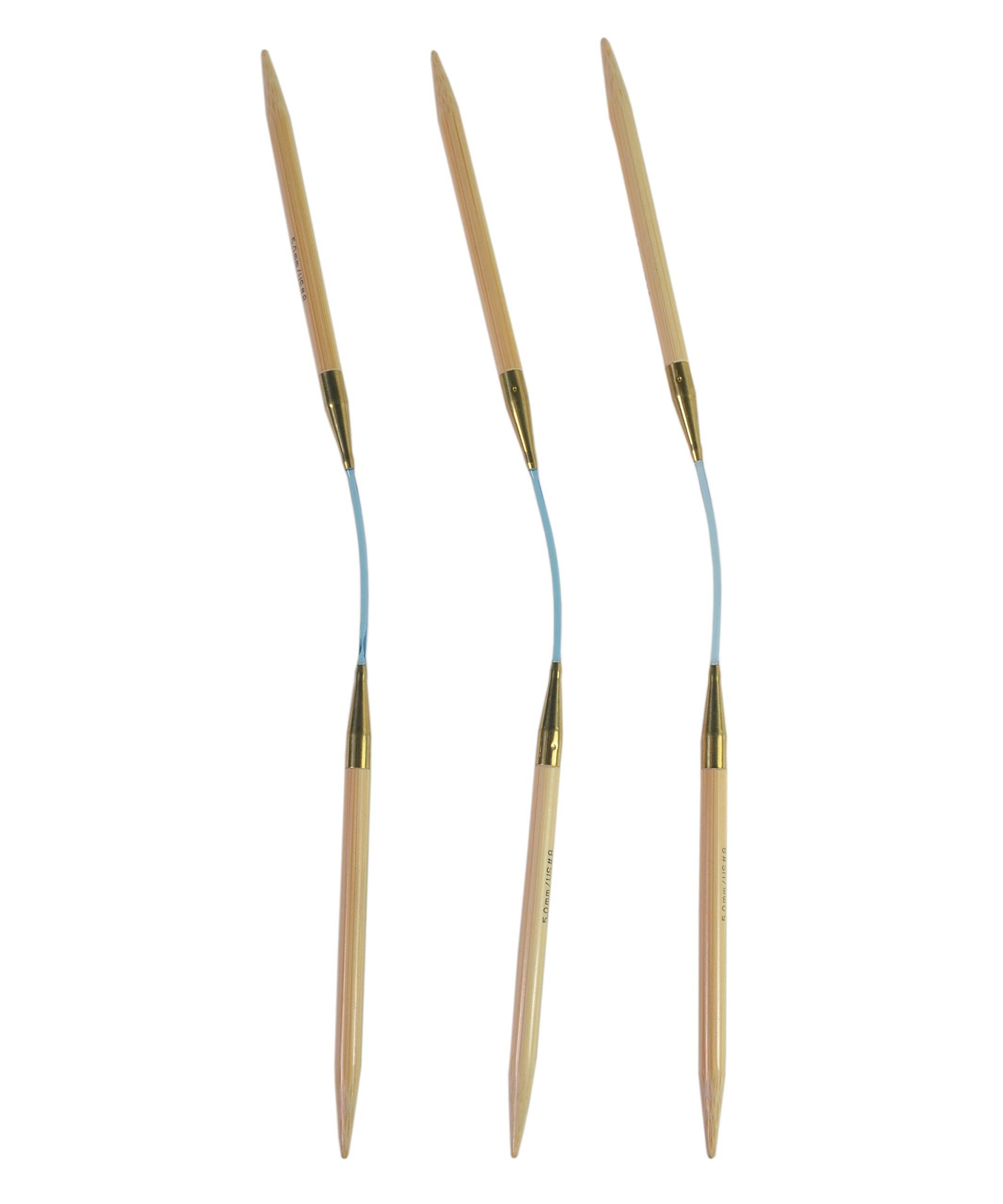 addi Flexi Flip Bamboo Knitting Needles (Set of 3) - US 7 (4.5mm)