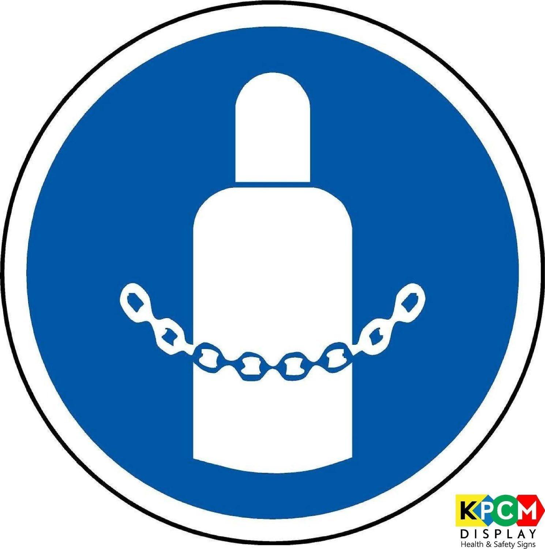 /étiquette de s/écurit/é ISO Sign/ /International s/écuris/é /à gaz cylindres Symbol/ /Self Autocollant 50/mm de diam/ètre
