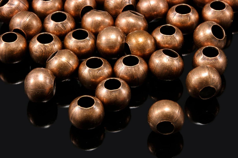 SPACER MetallPerlen Farbe BRONZE MIX 10-20-50-100 Stück Schmuck