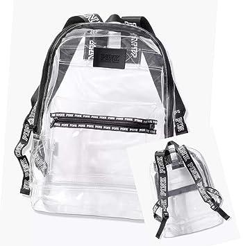 e43fadff98101 Victoria's Secret Pink Backpack Clear Festival Campus Book Bag